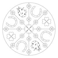 Glücksbringer Mandala mit Kleeblatt für Kindergarten, KiTa ...