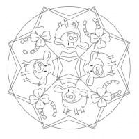 Glücksbringer Mandala für Kindergarten, KiTa und Schule
