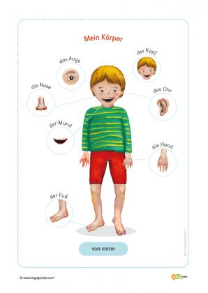 Malvorlagen Körper Kindergarten