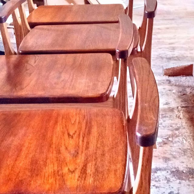 やっと完成#椅子#楢 #handmade #chair#oak