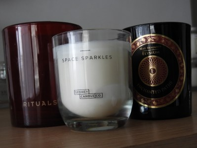 candles with calming scents