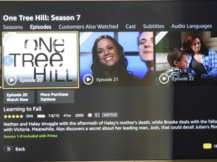 One tree hill on Prime videos
