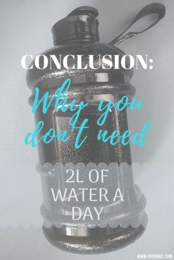 pinterest pin- why you don't need 2 litres of water a day