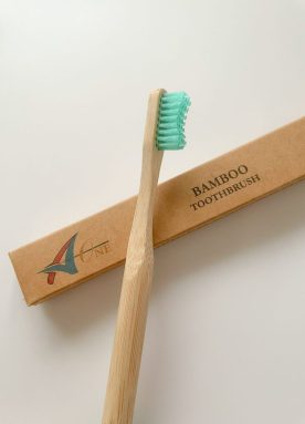 A-One bamboo toothbrush in turquoise
