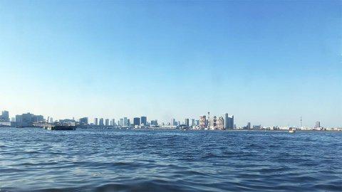東京水辺ライン船から見た風景