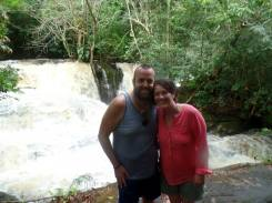 It's a waterfall, in the Amazon Rain Forest. How awesome is life!