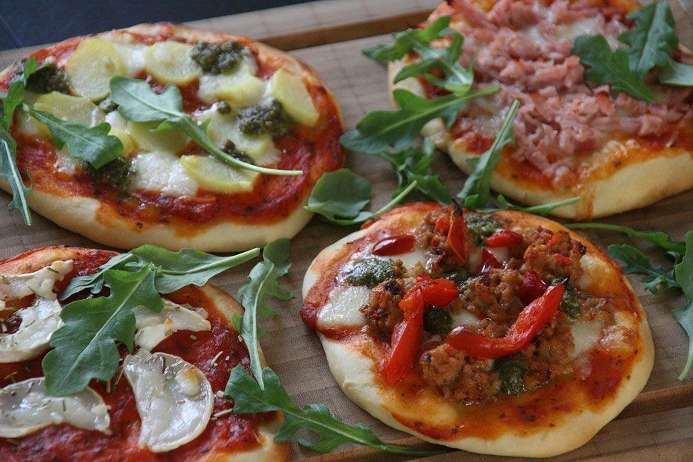 Opskrift på foccasia boller - mini pizza