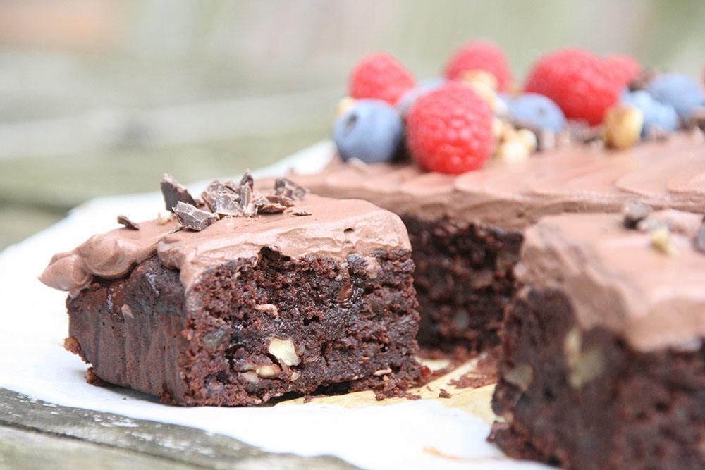 opskrift på sund fudgy brownie