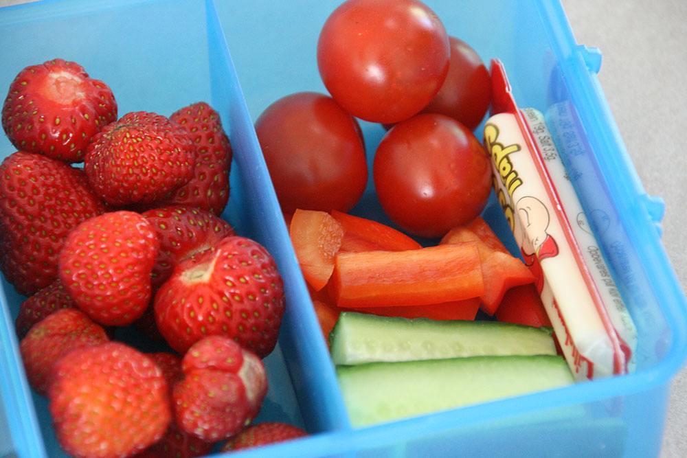 frugt og grønt til madpakken