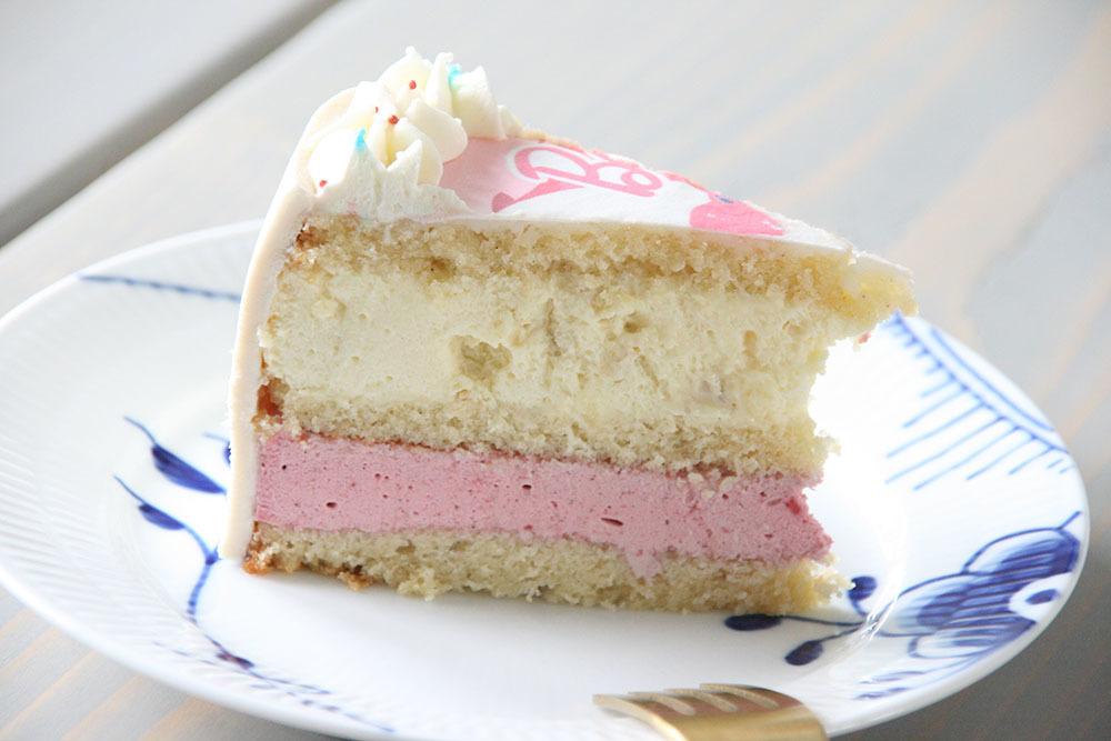Opskrift på skøn fødselsdagslagkage med hindbærmousse og hvid chokolademousse