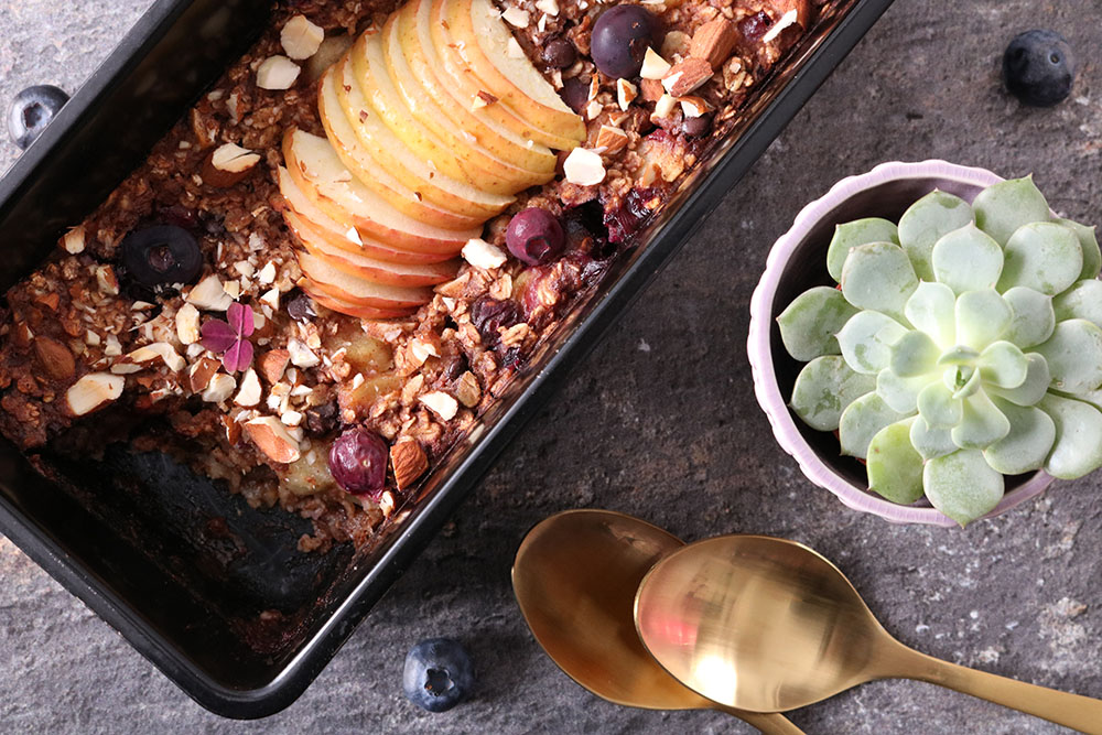 Opskrift på nem og sund bagt grød