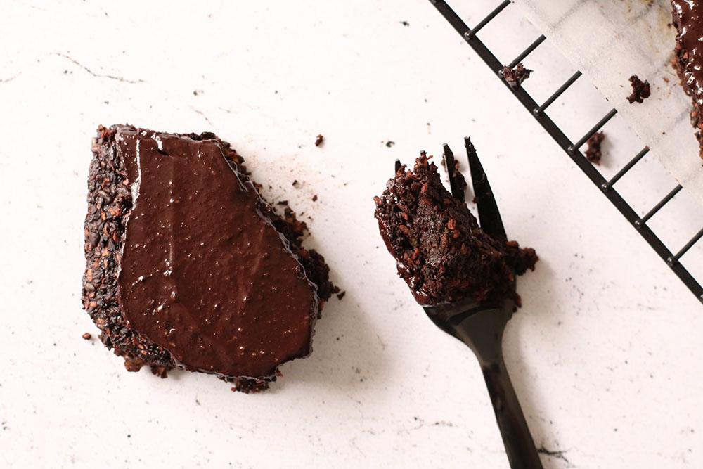 100% vegansk fudgy brownie