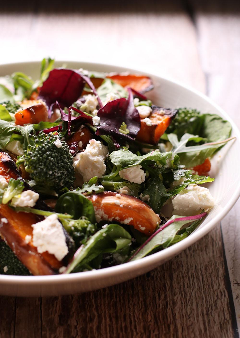 Syndig opskrift på salat med butternut squash