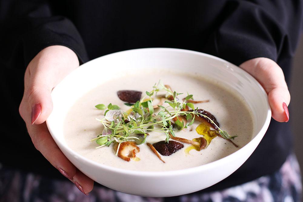 kartoffel svampe suppe