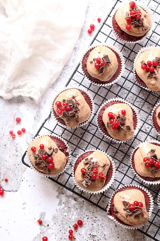 Opskrift på sunde Red Velvet cupcakes