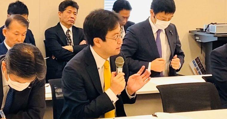 党税制調査会・財務金融部門合同会議、新型コロナウイルス対策として緊急経済対策のたたき台