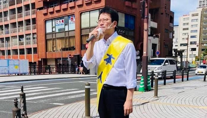 小倉を中心に街頭演説