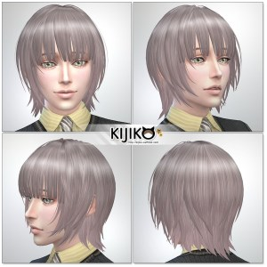 Sims4 hair/ fron,side,back シムズ4 髪型 詳細