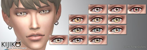 Non-Default Eyecolors for the Sims4,Earth Tone Colors  シムズ4 ノンデフォルトアイカラー アーストーン