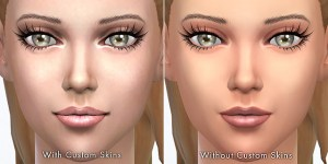 Depending on custom skins,semi-transparent lip colors will look different.