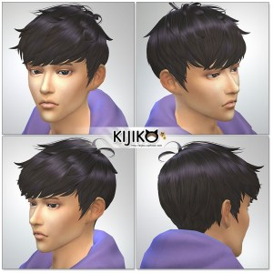 Sims4 hair/ for Male / Masculine Frame シムズ髪型 詳細 Ichimatsu Edition