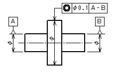 同軸度公差・同心度公差   機械製図