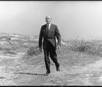 Quiberon, le 1 juin 1991 Déplacement de Valéry Giscard d'Estaing.