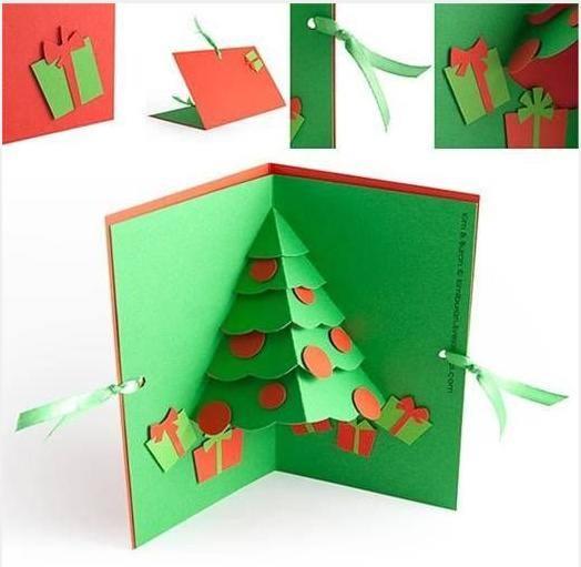 {手工卡片}聖誕樹立體卡片製作方法 – KI之窩