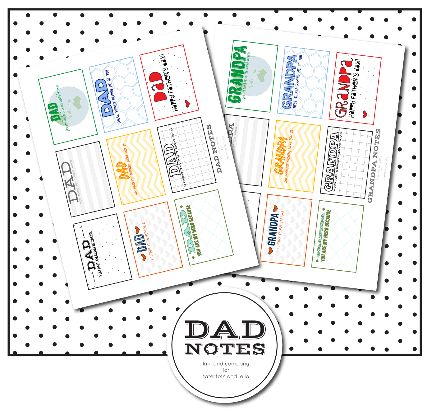 Free Printable Dad Notes For Father S Day