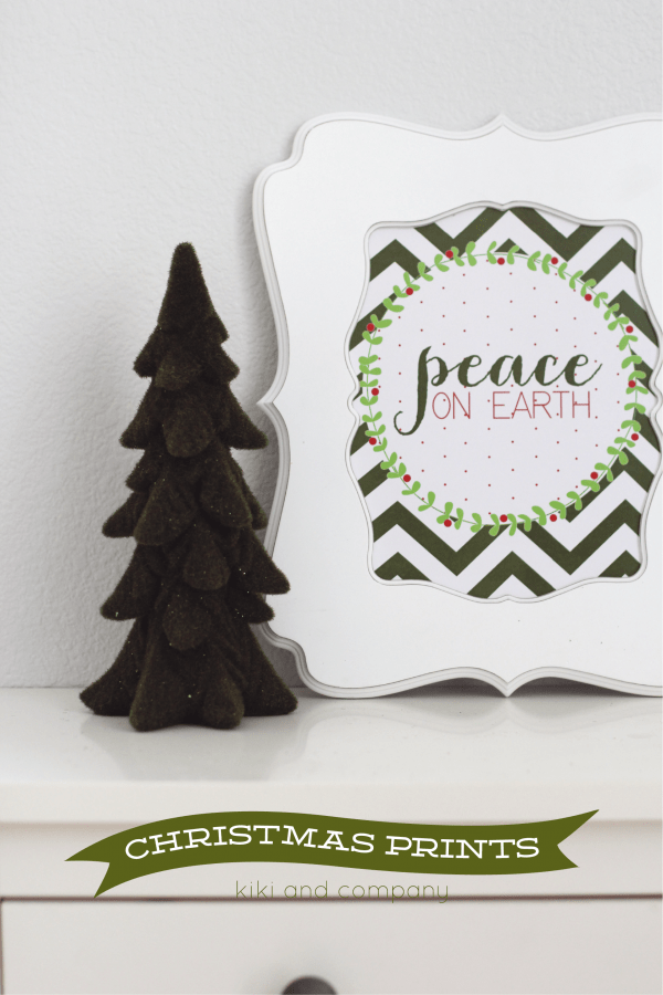 Free Christmas Prints from Kiki and Company.Three designs.