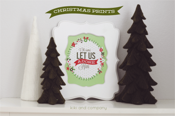 Free Christmas Prints from kiki and company