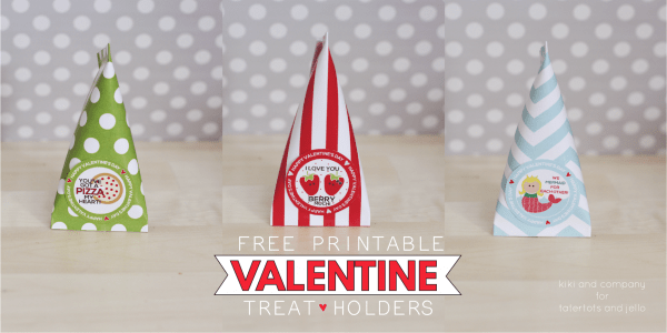 Free Printable Valentine Treat Holders. Love all the options.