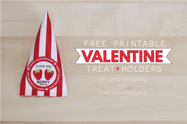 Free Printable Valentine Treat Holders. SO cute!