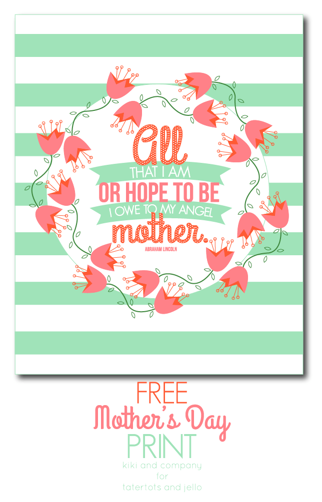 Free Mother's Day print from Kiki and Company!