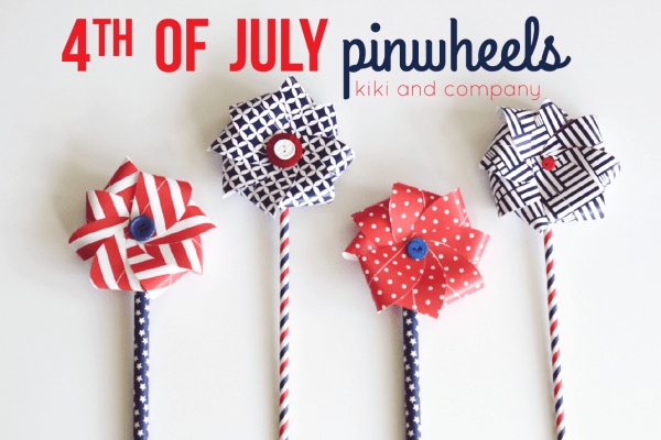 4th of July pinwheels from kiki and company