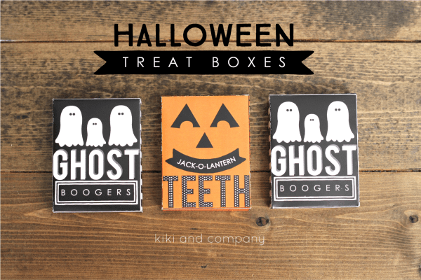 Halloween Treat Boxes from Kiki and Company. FUN!
