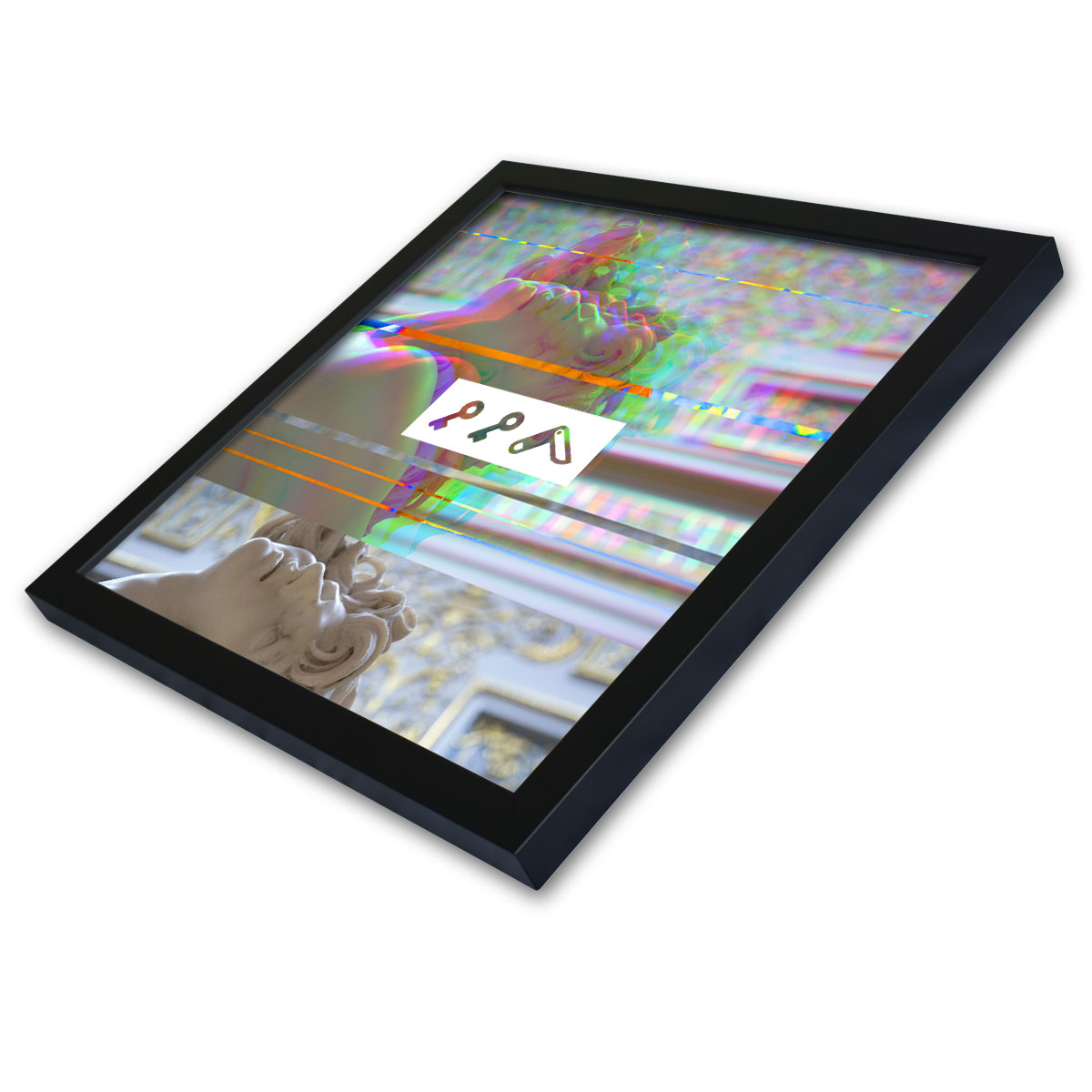 CHIVALRY IS DEAD glitch statue framed graphic prints