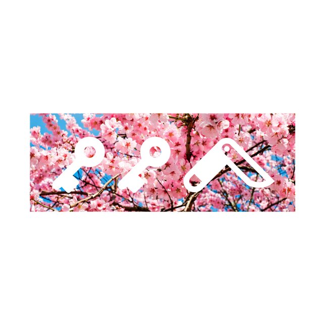 """""""CHERRY FLOWER bOM"""" kikicutt logo japanese cherry tree design by kikicutt"""
