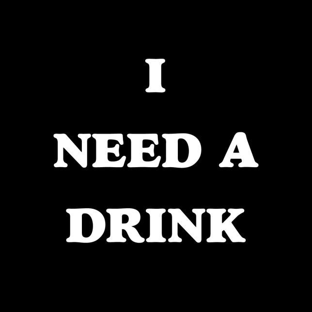 I NEED A DRINK funny sunday funday design by kikicutt