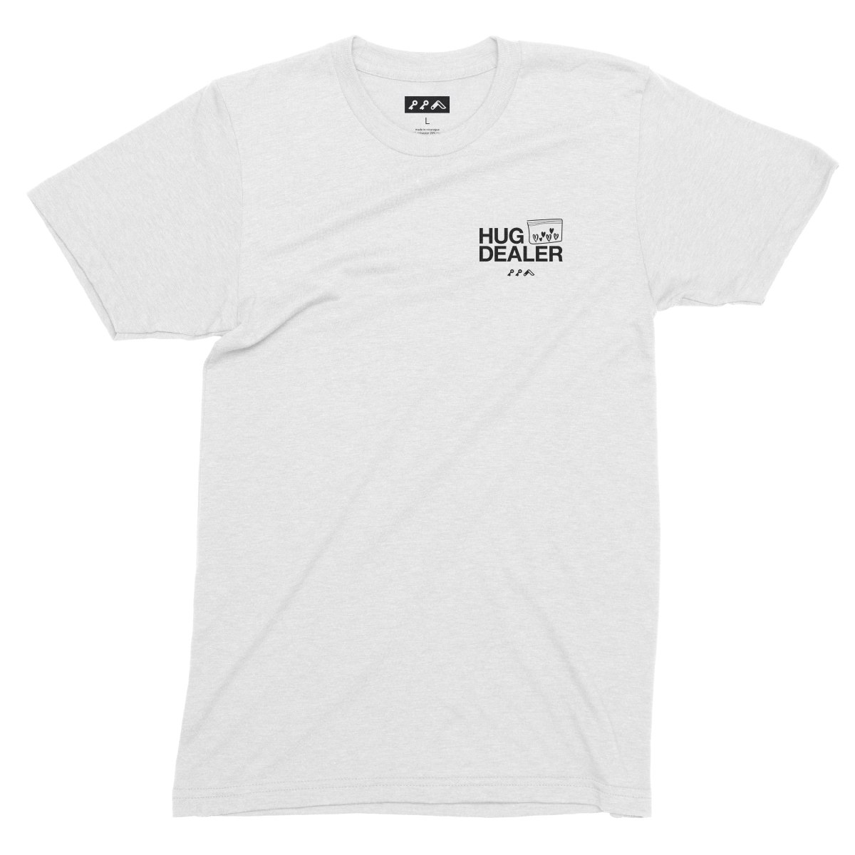 HUG DEALER shirt in white by kikicutt t-shirt store