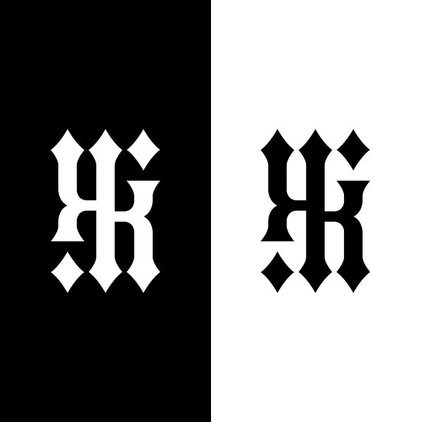 KIKI ambigram (embroidered)