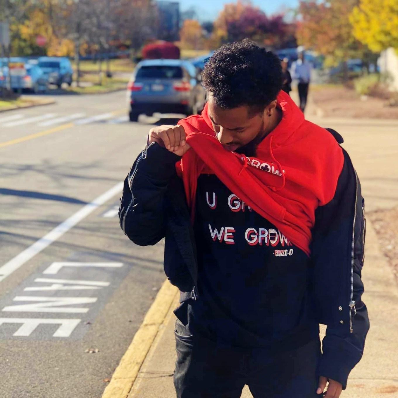 Hip hop artist, M.Y.T.H. supporting Kiki.D's Merch