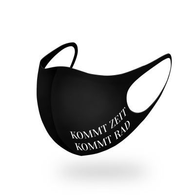 KOMMT ZEIT, KOMMT RAD – DOPPELPRINT Maske