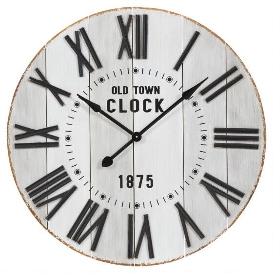 The Dresden Wall Clock U2013 Available At Urban Barn U2013 Is One Of Our  Favourites! We Love The Painted Wood Plank Detail, The Antique Trim Finish  And The Roman ...