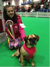 Grace and Bonnie who made it all the way to Crufts 2018 from the Family Pet Show last year in the Childs Best Friend Class