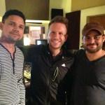 Junto a Carlos y Noel Scharis