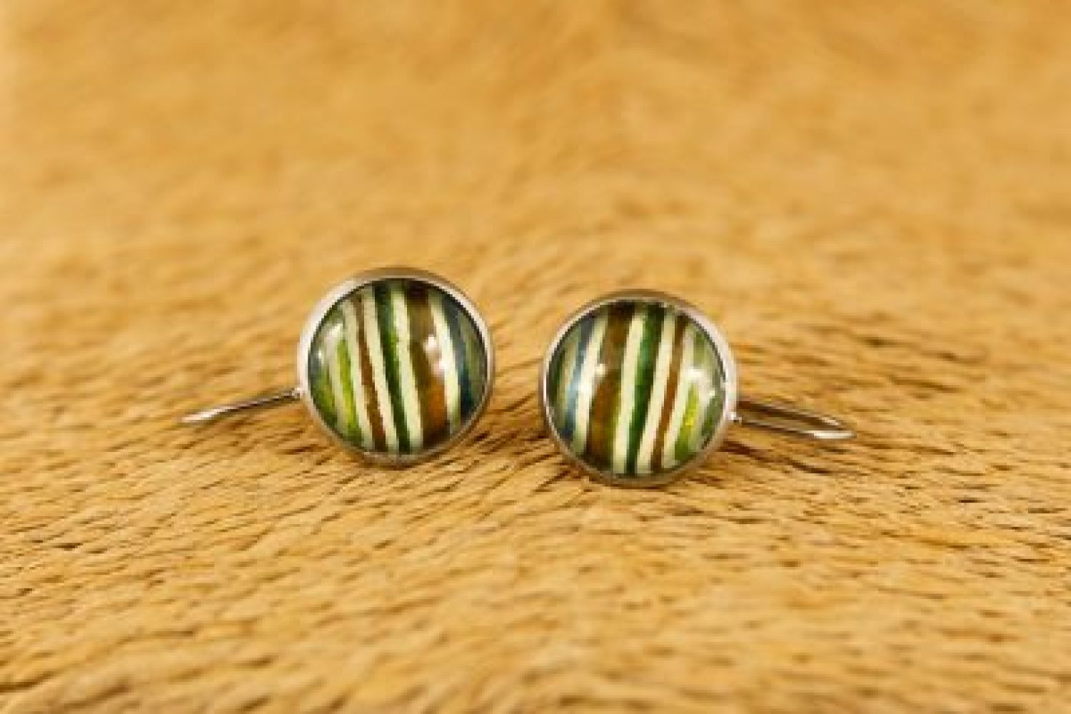 green-stripe-drop-earrings