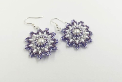 amethyst-bead-flower-earrings