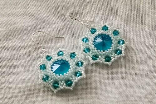 blue-snowflake earrings