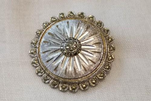 sphinx-marcasite-brooch